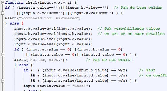 Javascript oplossingen